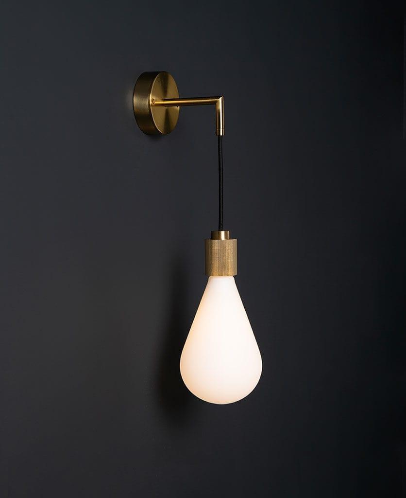 living room lighting ritz brass on black wall