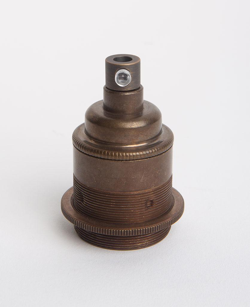 brewer's brass threaded e27 lamp holders against white background