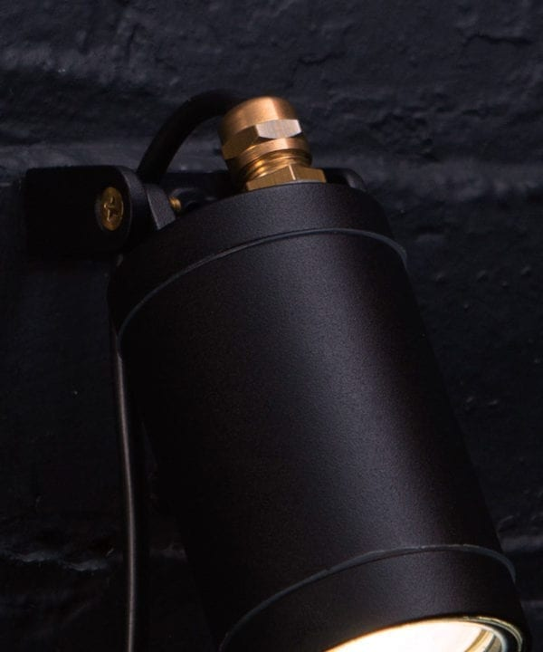 Black Leonis Outdoor Wall Light