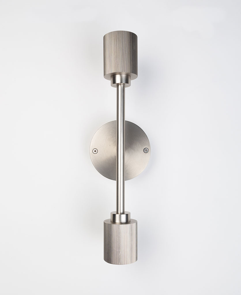 belgravia silver wall light on white background