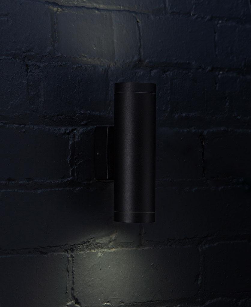 Vega Black Outdoor Wall Light