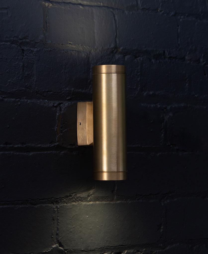 Vega Brass Outdoor Wall Light