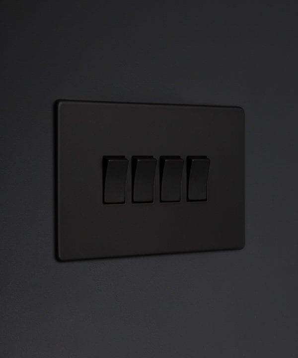 black 4g quad rocker switch
