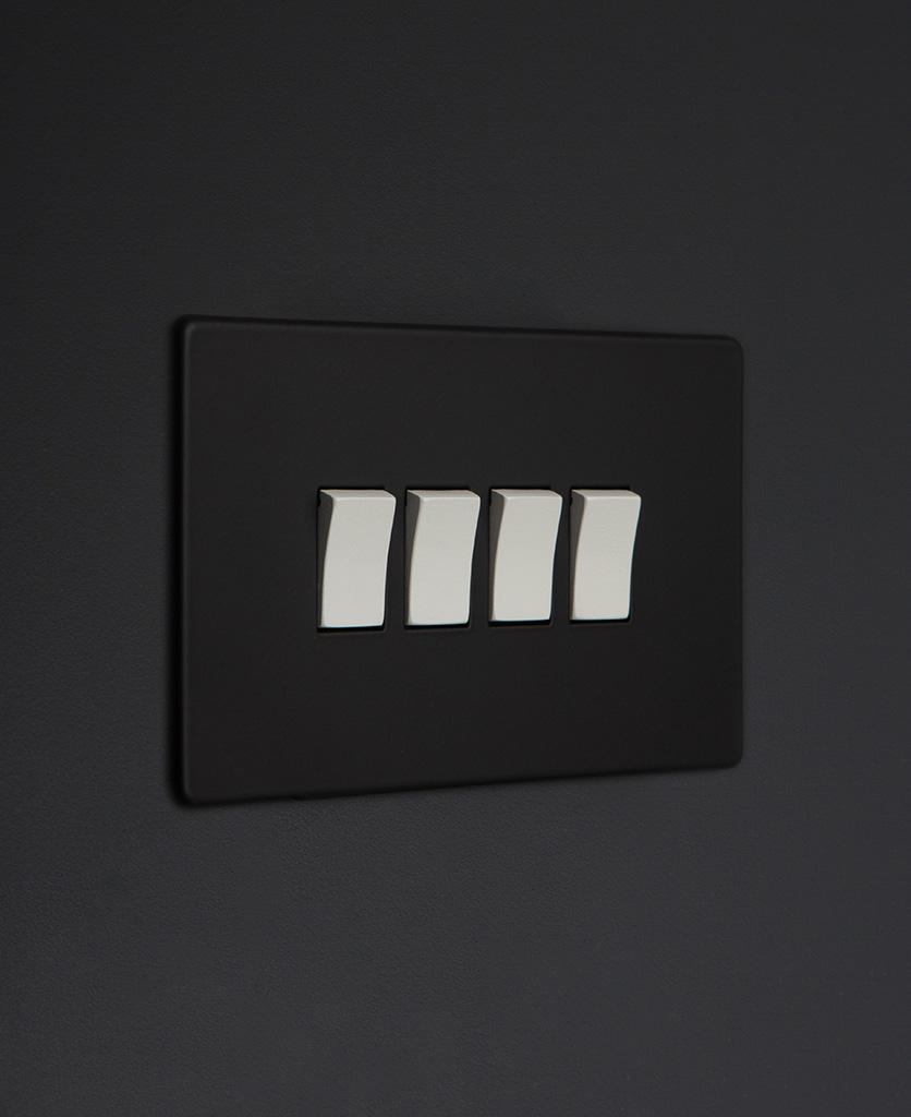 black and white 4g quad rocker switch