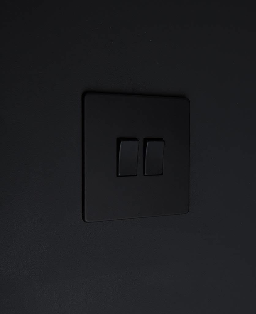 black and black rocker switch