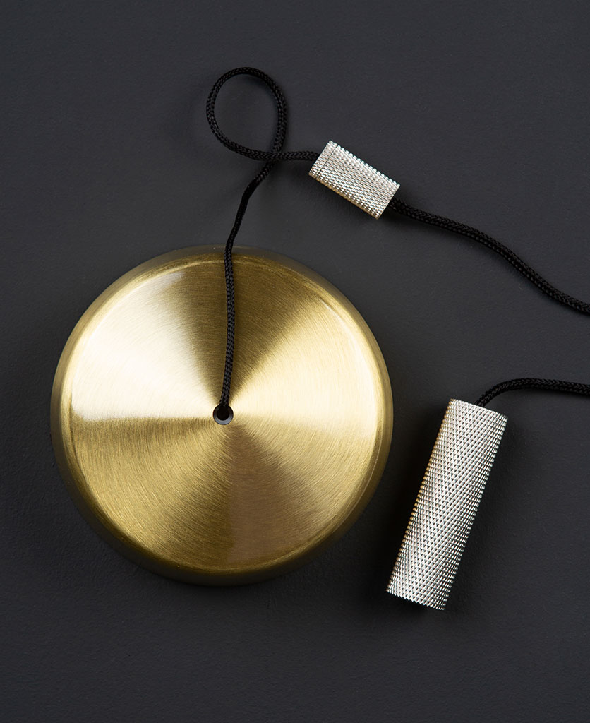 brass pull cord switch with silver pull