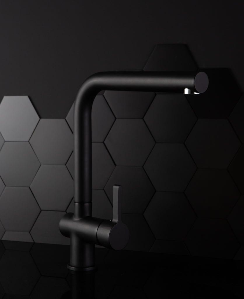 black kitchen tap kintampo