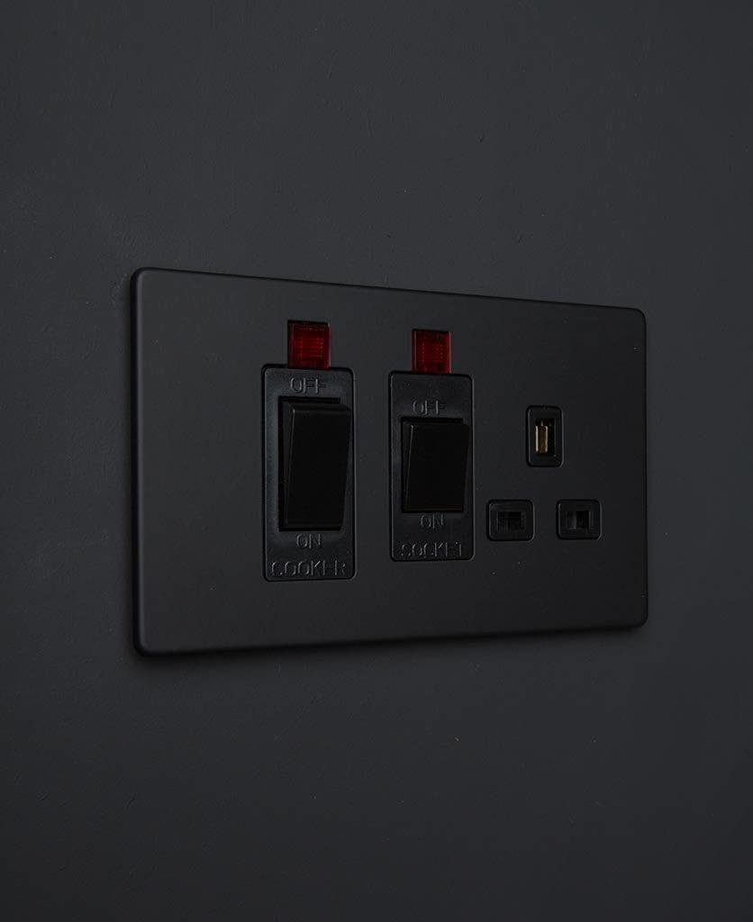 black and black kitchen socket