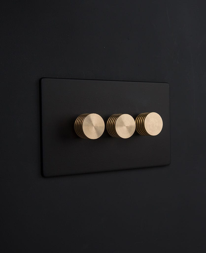 black and gold triple dimmer