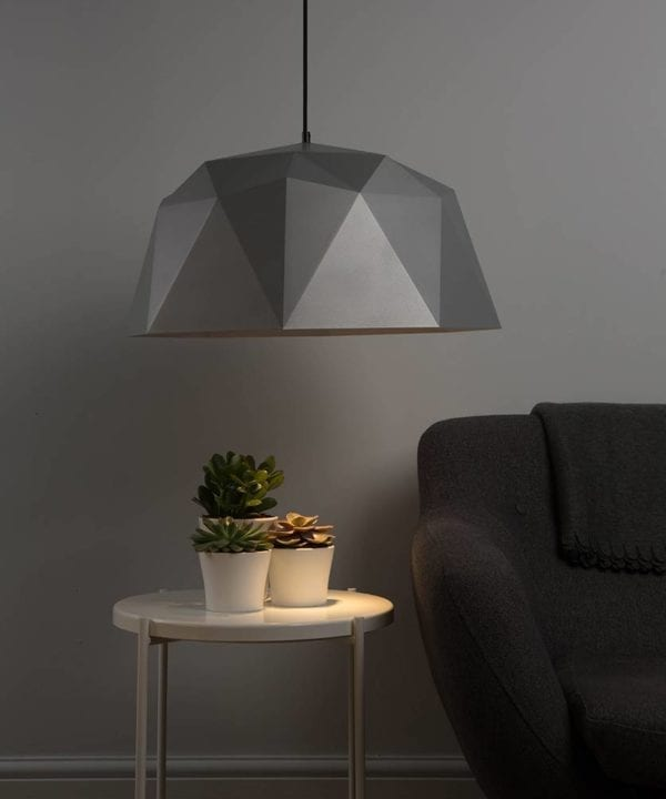 kyoto geometric light silver against grey wall