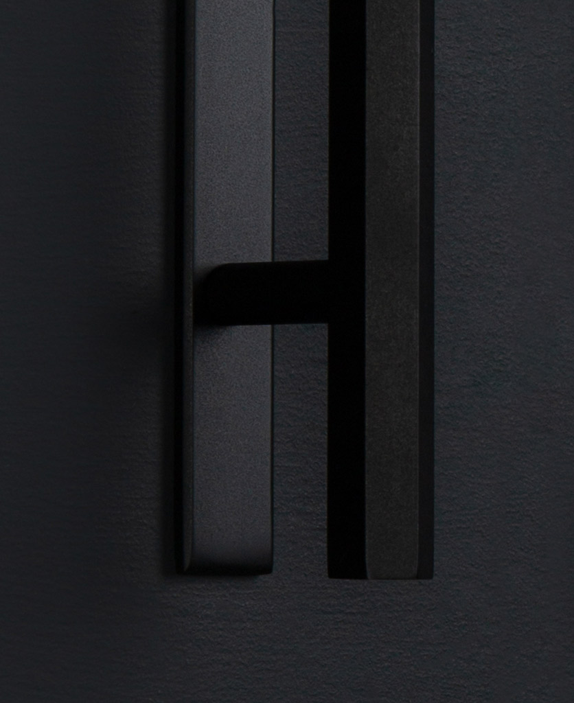 hive handle with plate black