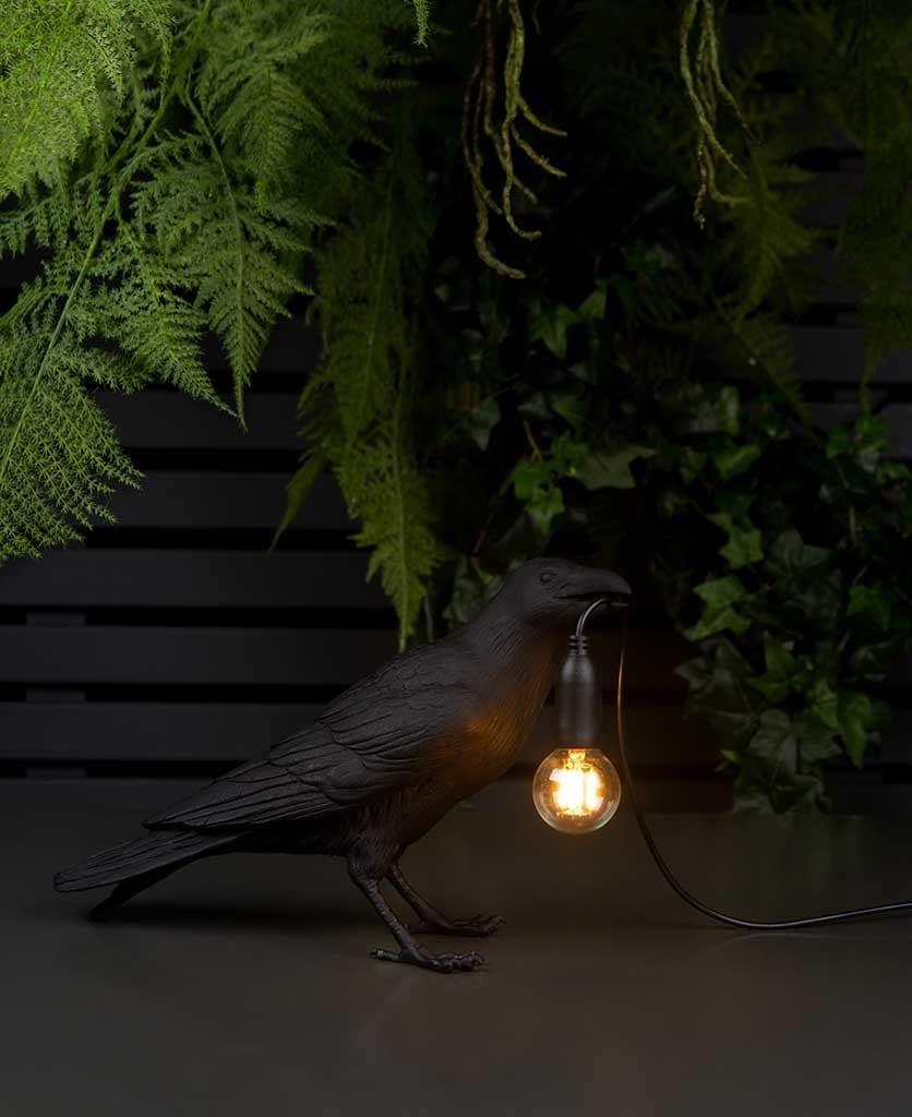 waiting raven outdoor lamp