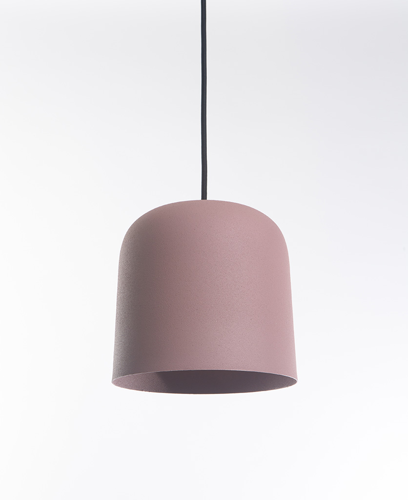 pink visby ceiling pendant on white background