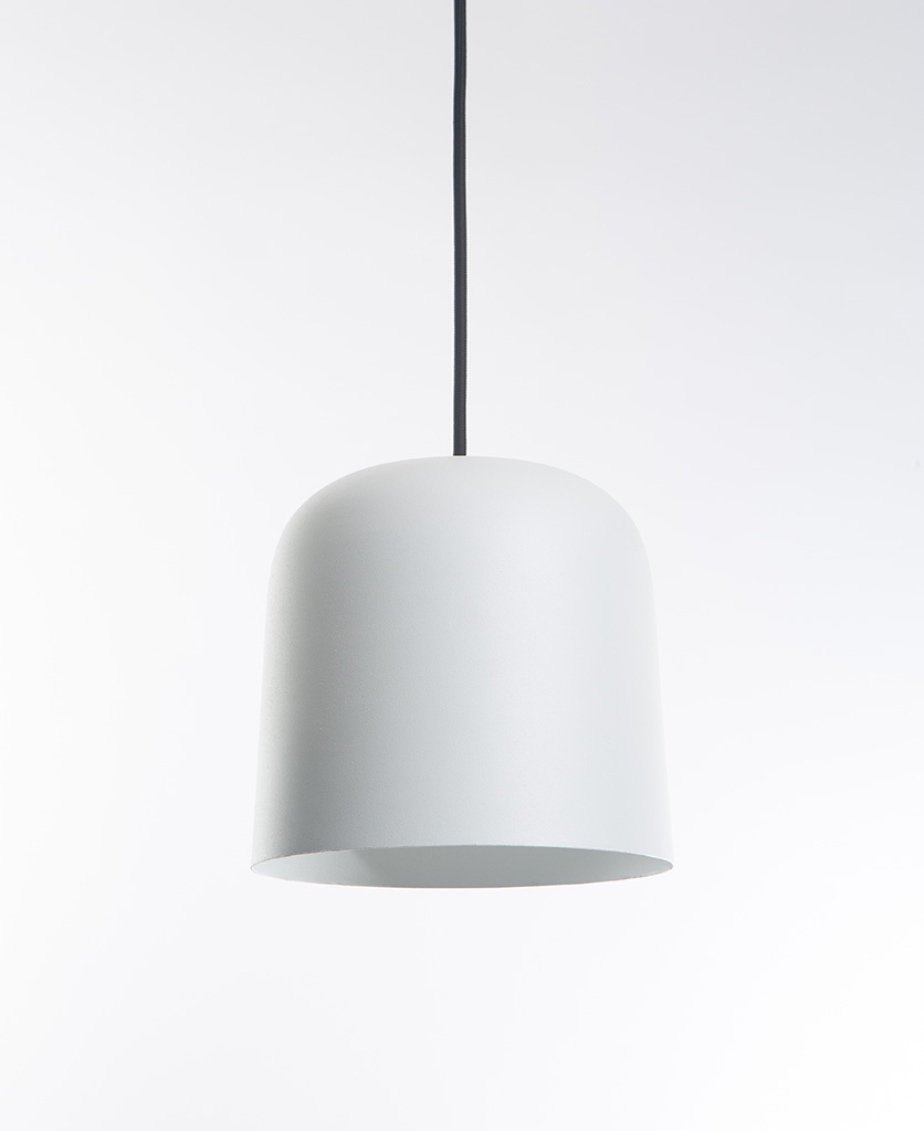white visby ceiling pendant on white background