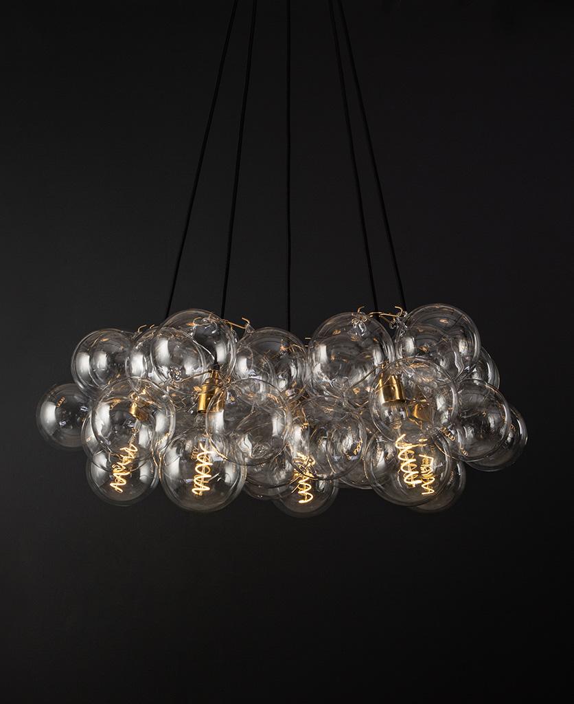 bubble glass chandelier