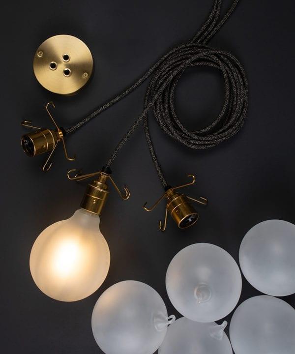 bespoke frosted bubble chandelier