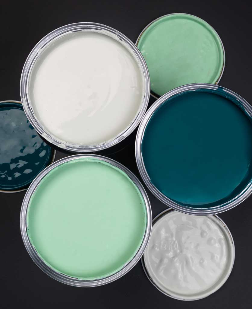 polar bear selfie white paint, make a mint green paint and in deep water paint against black background