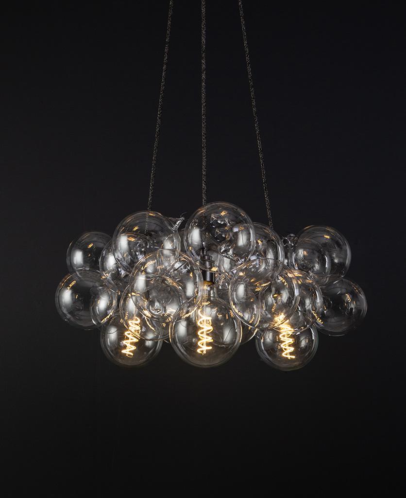 medium chandelier bronze 24 bauble