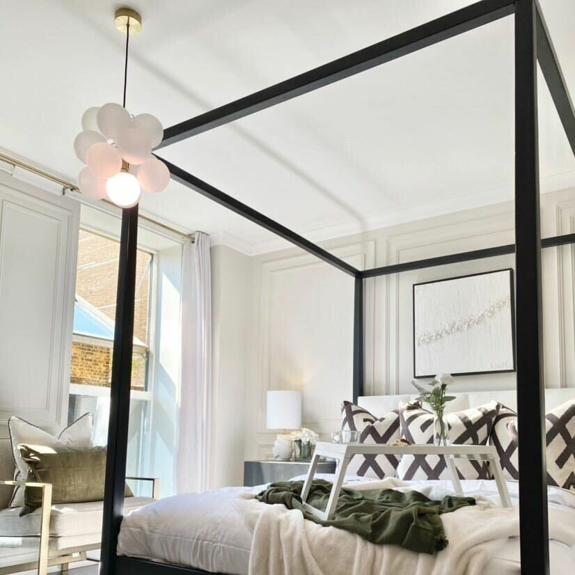 neutral decorated bedroom
