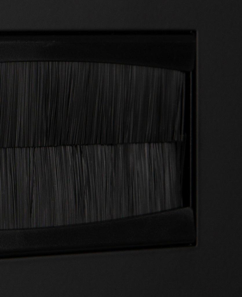 closeup black & black double brush plate