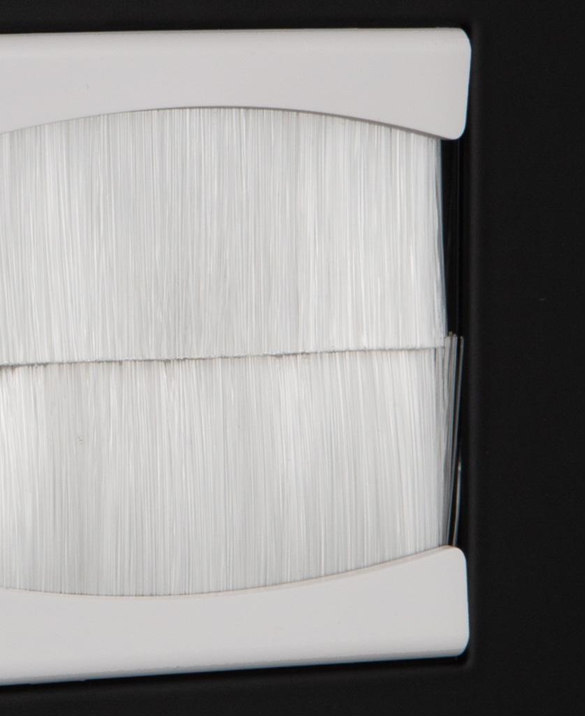 closeup black & white single brush plate