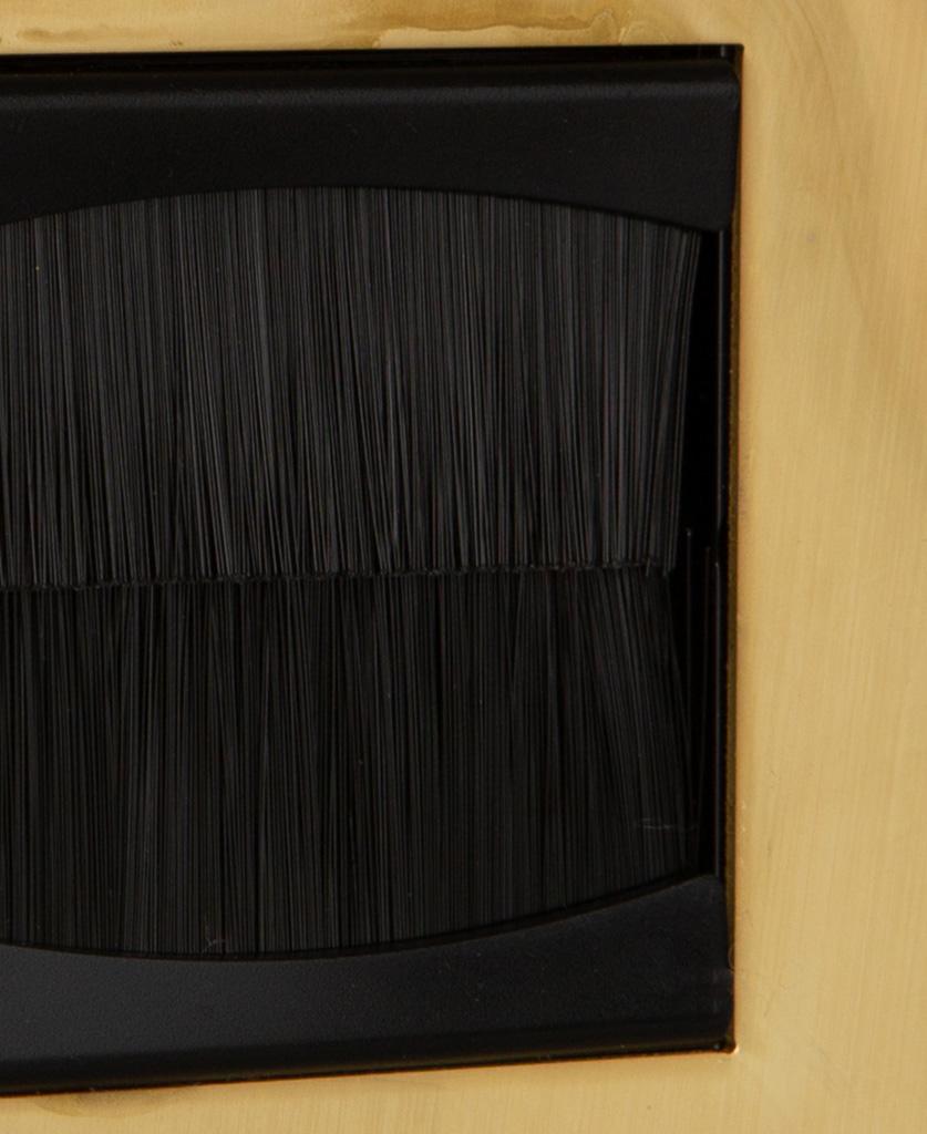 closeup smoked gold & black single brush plate