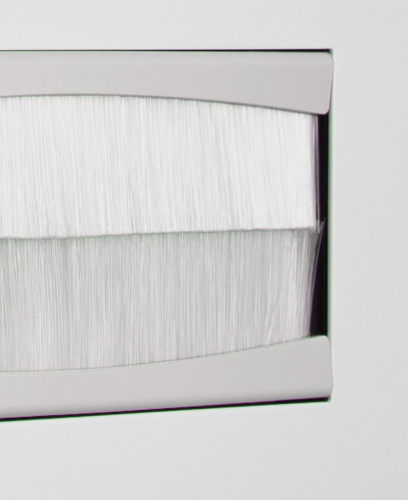 closeup white & white double brush plate