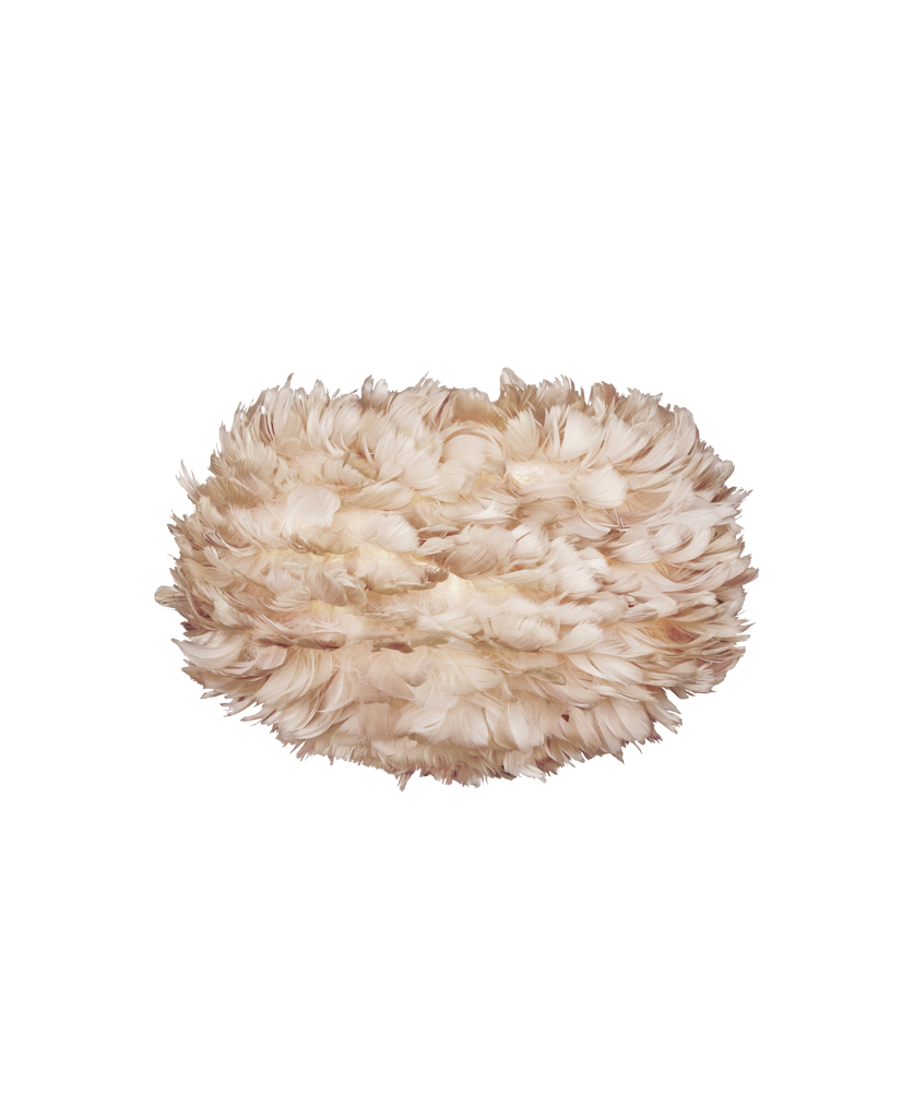 brown medium umage feather light shade against white background