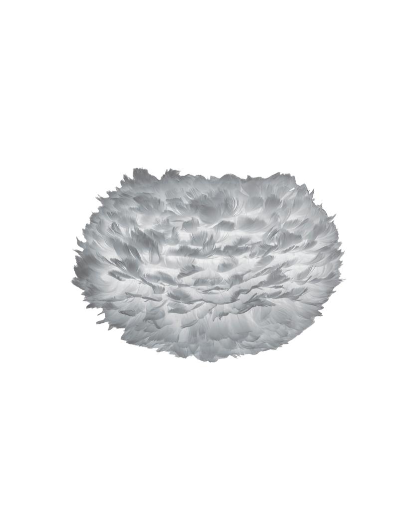 grey medium umage feather light shade against white background