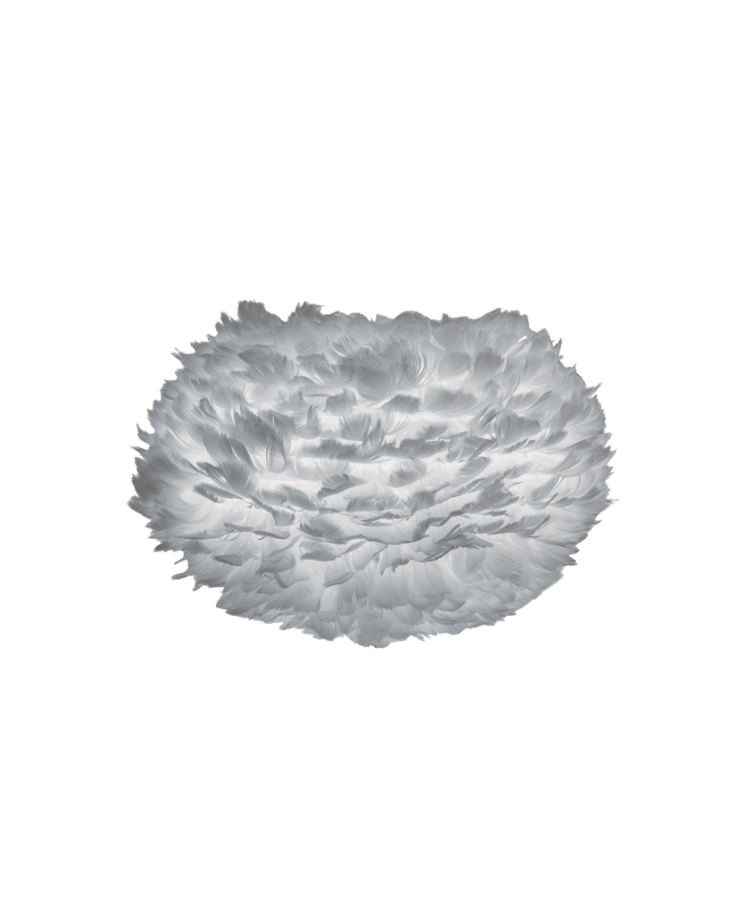 grey medium table lamp shade only