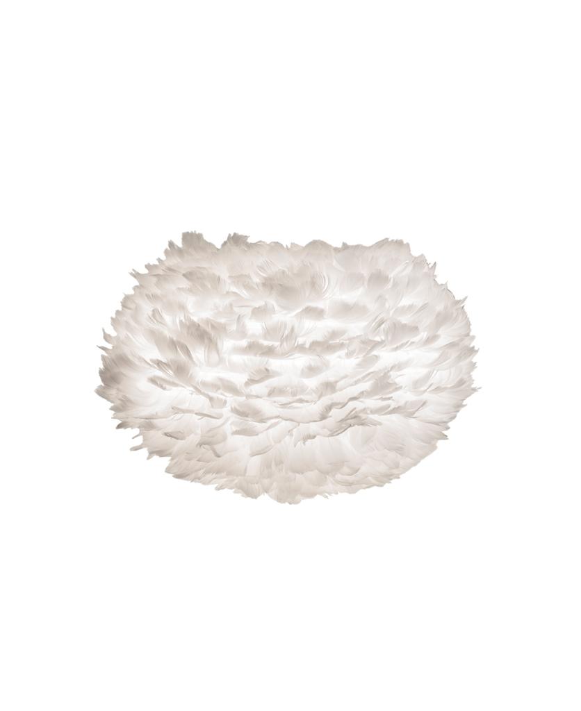 umage white medium feather light shade against white background