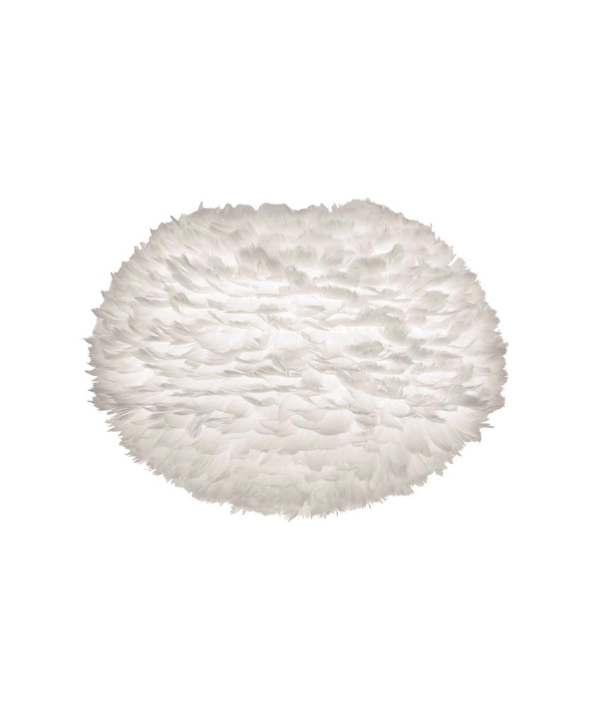 large white umage feather light shade against white background