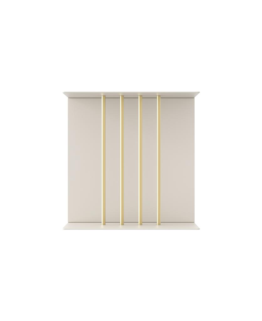 umage teaser shelf white single against white background
