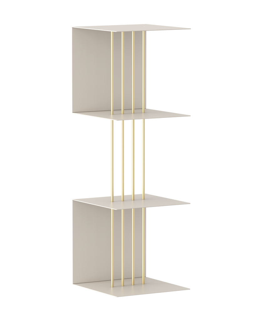 umage shelf white 2 layers against white background