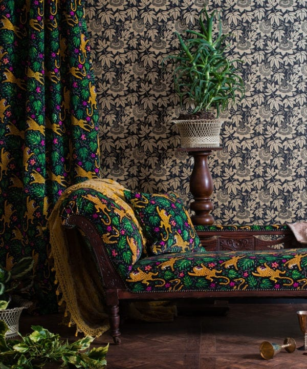 monkey puzzle tree black and gold wallpaper passion