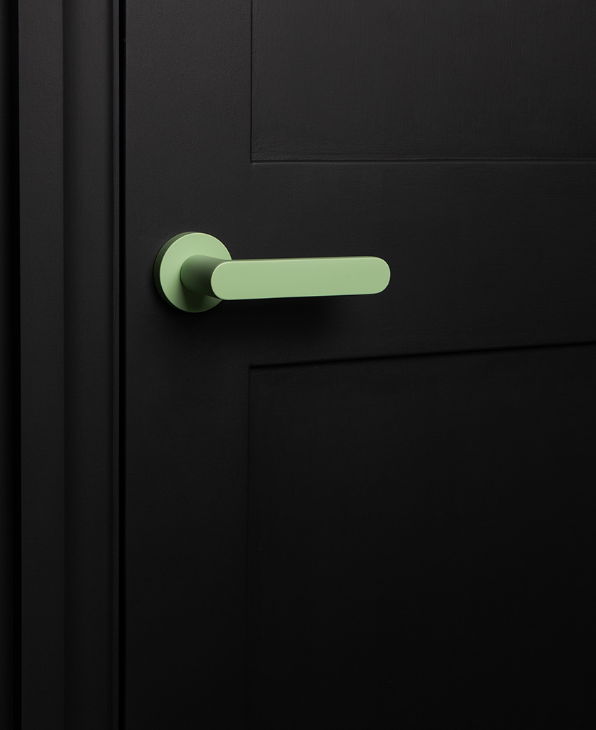bourdelle neo mint internal door handle on black door