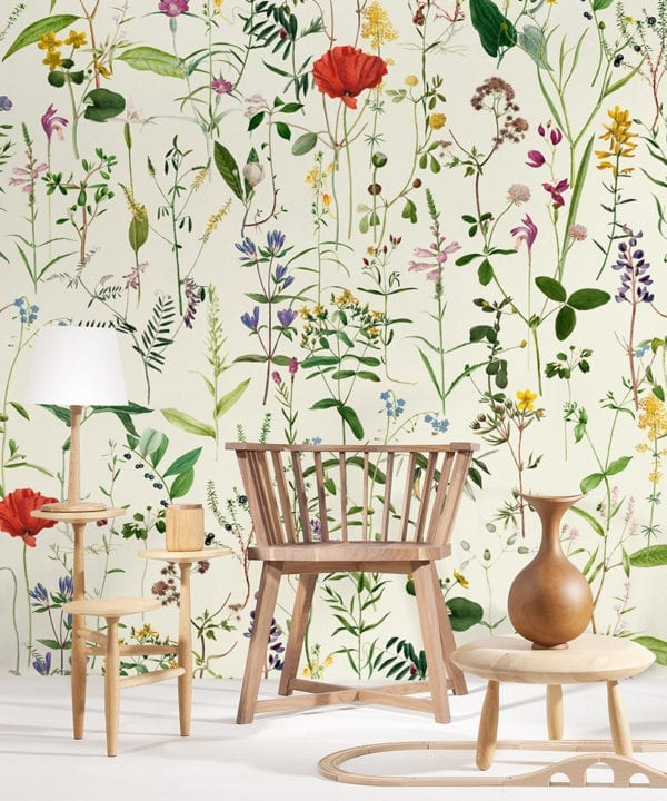 aquafleur wallpaper