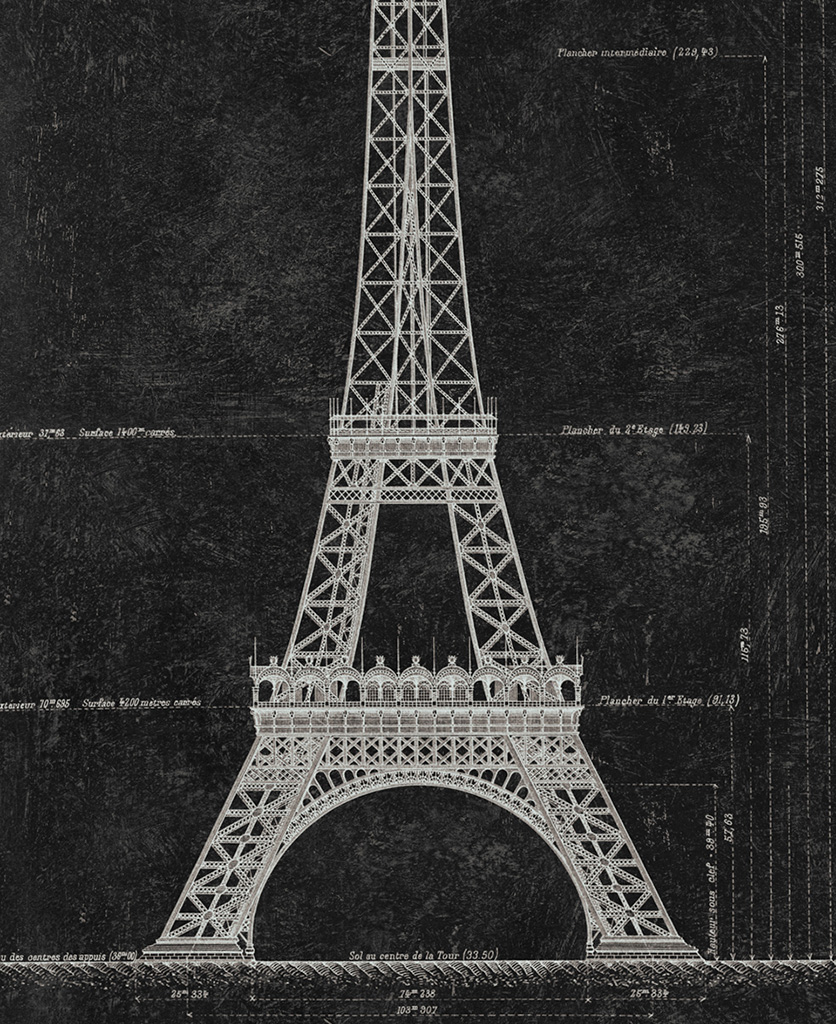 grand eiffel anthracite wallpaper close up