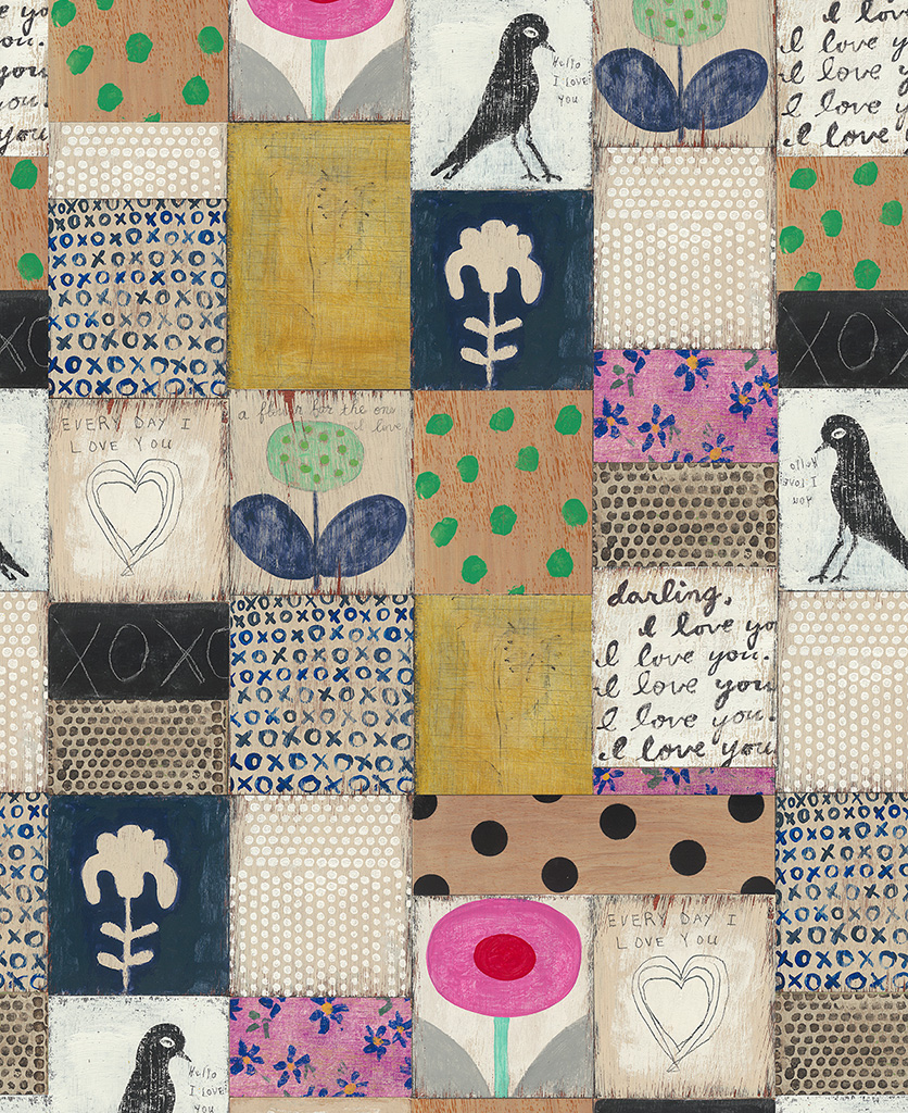 collage wallpaper close up