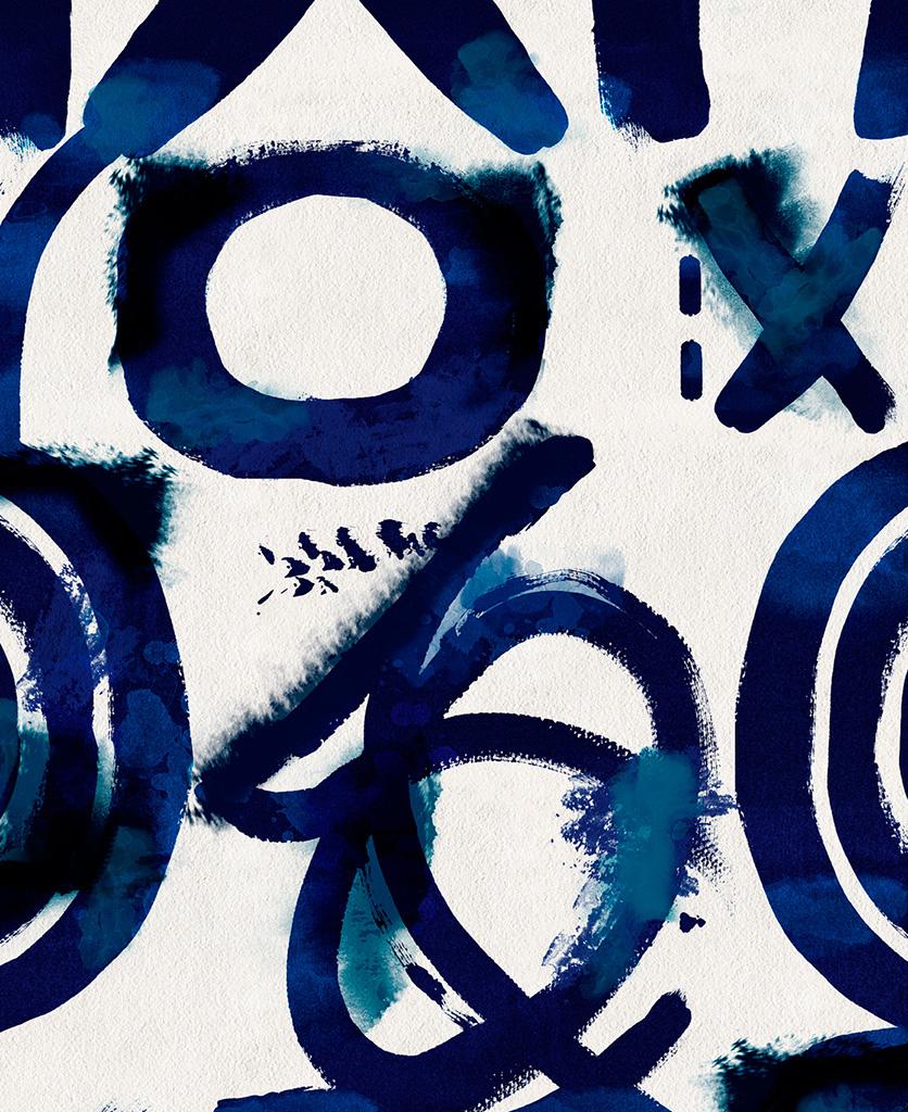 spontaneous blue wallpaper close up