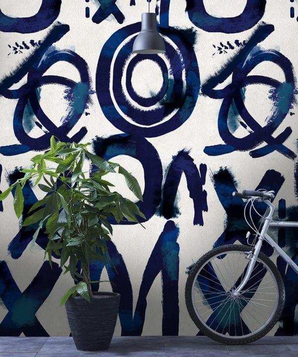 spontaneous blue wallpaper