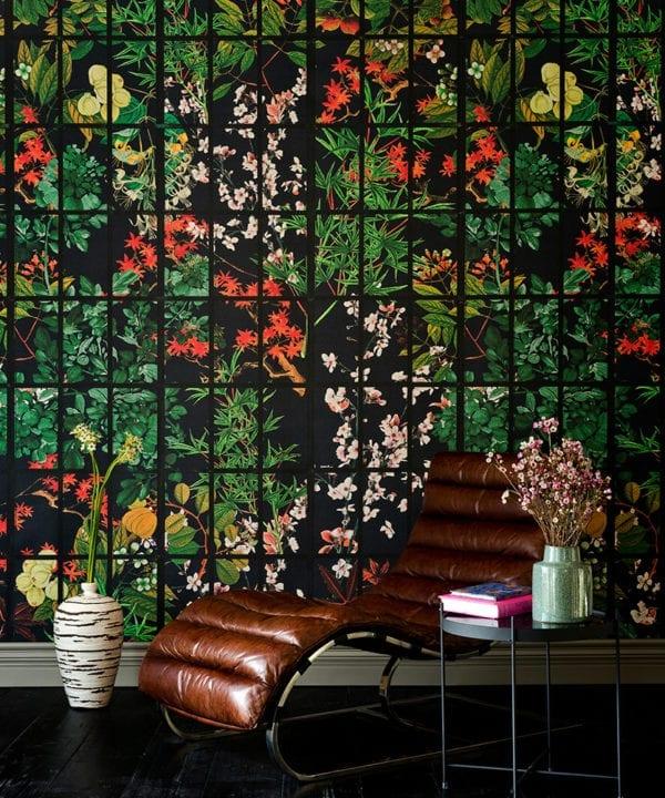 japanese garden by night wallpaper