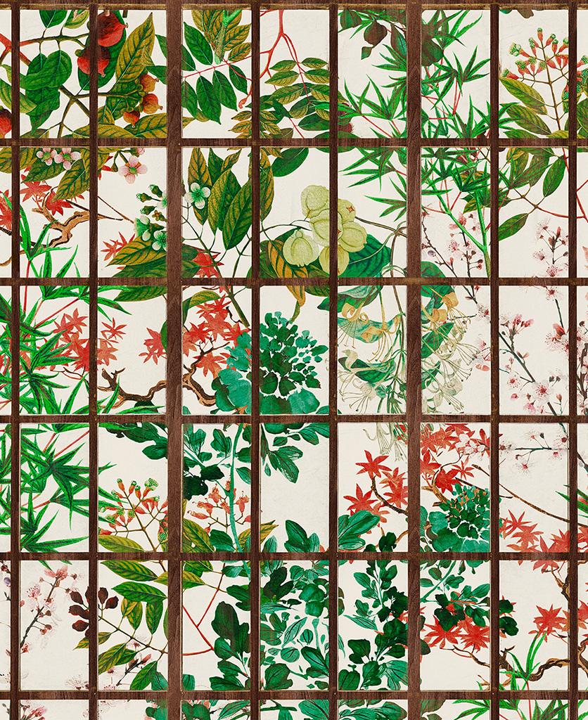 japanese garden wallpaper close up