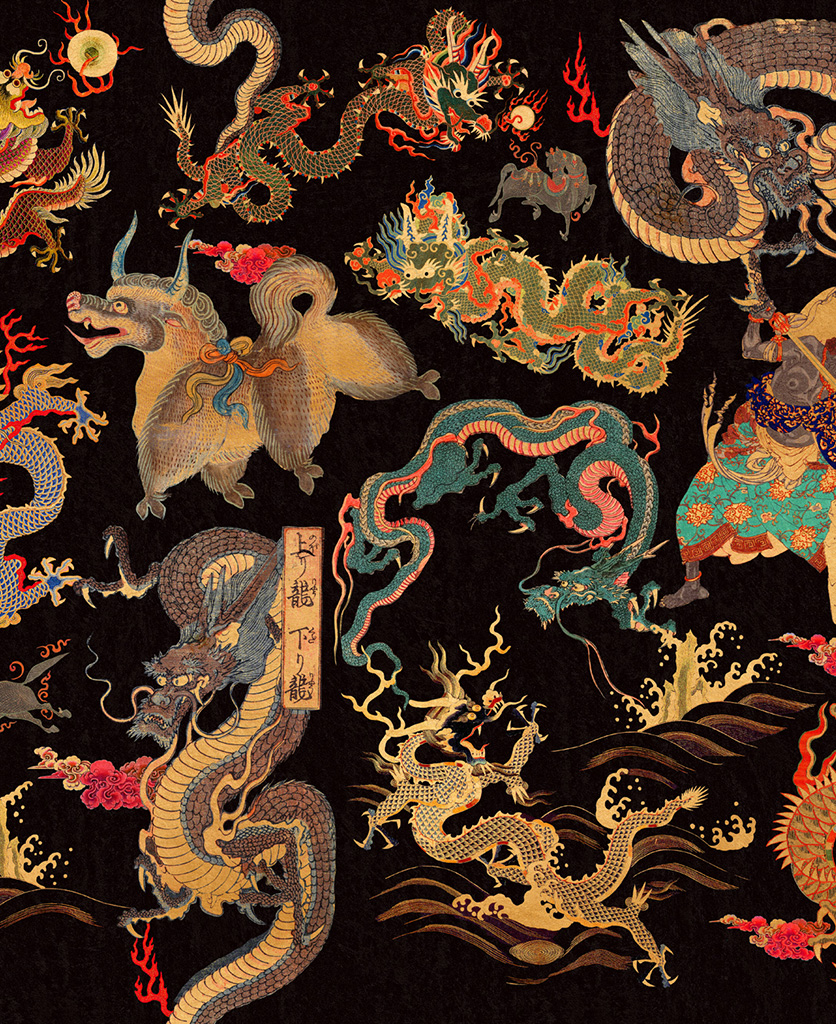 dragons of tibet wallpaper close up