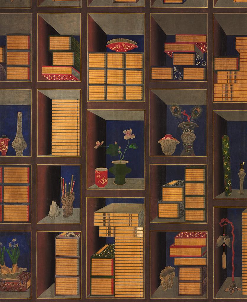 korean library chromo wallpaper close up