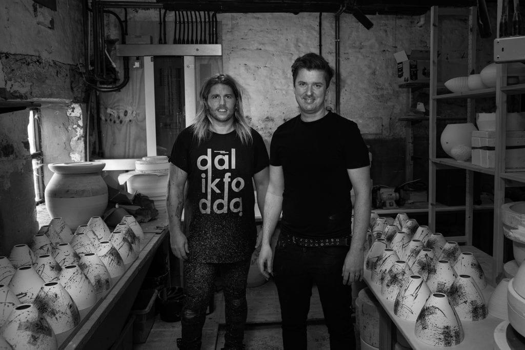 Michael O' Hare and James Dowsing Reynolds at Laverick and Son studio