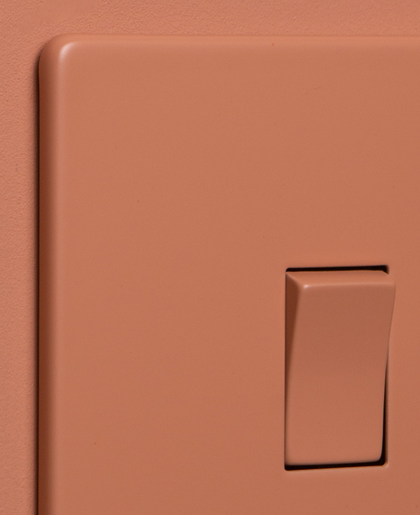 cinnamon 1g single rocker switch close up