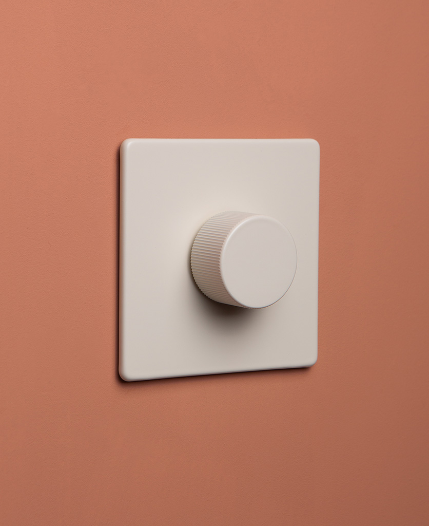 whipped cream chunky dimmer on beige red background