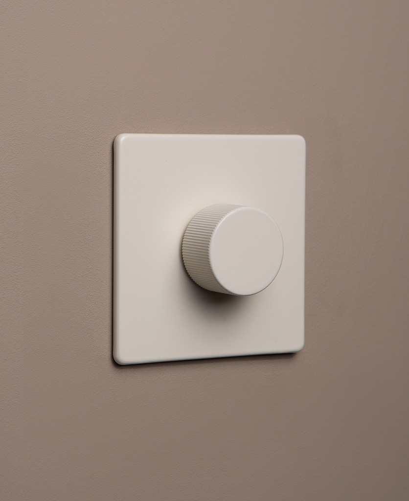 whipped cream chunky dimmer on grey beige background