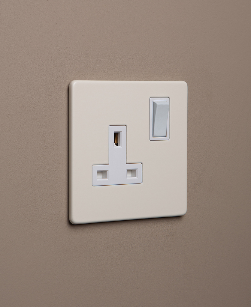 whipped cream and white single socket